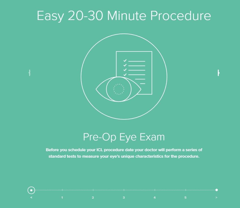 فحص العين قبل العملية