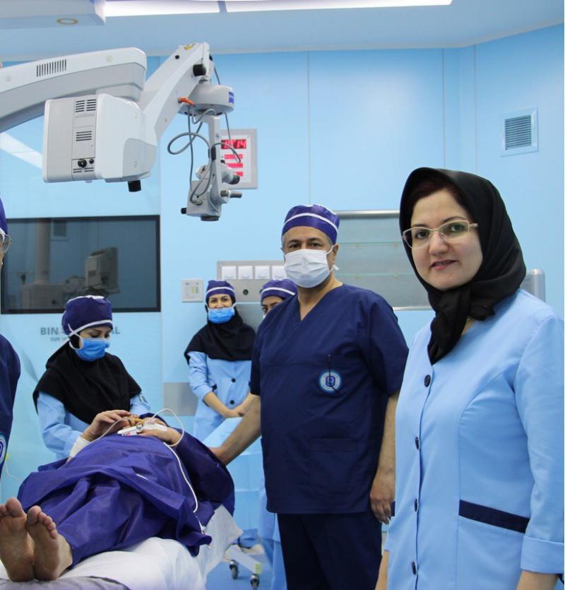 الدكتوره نفيسه يعقوبي في مستشفى بينا مشهد